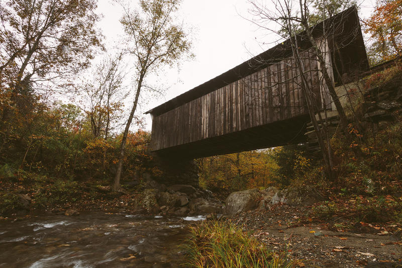 A covered bridge in Stowe, known as Emily's Bridge, is thought to be haunted by a jilted bride. Want to share your favorite Vermont ghost story? Record yourself for a Halloween podcast extra from Brave Little State.