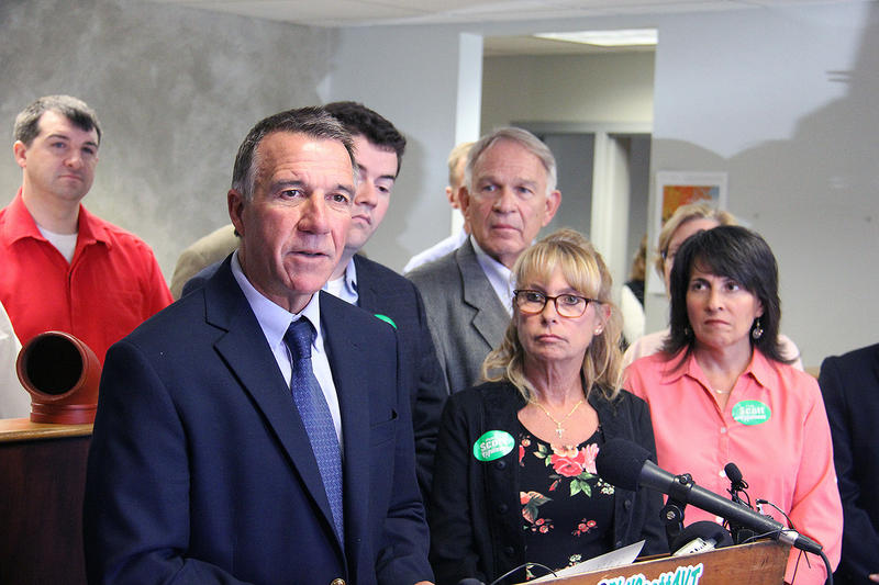 Phil Scott unveiled his economic plan for Vermont in Colchester Thursday.