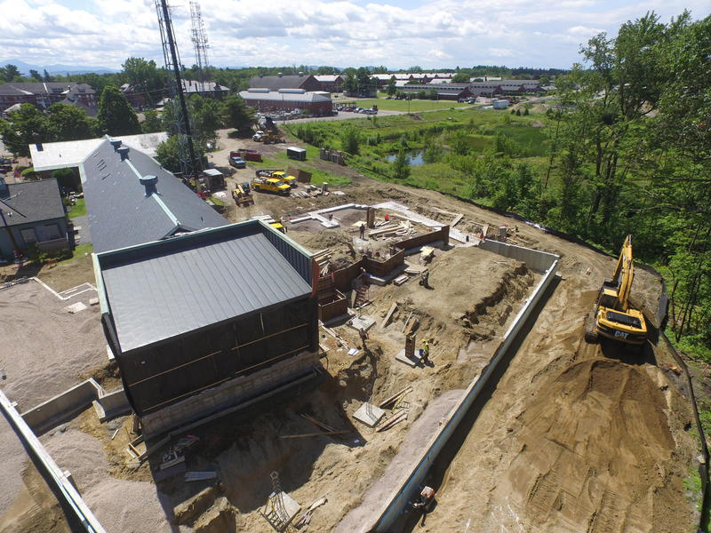 Aerial view of construction from summer 2015