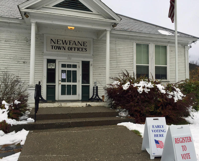 A reconsideration vote on new town offices in Newfane is one of the local ballot initiatives being considered on Election Day in Vermont.