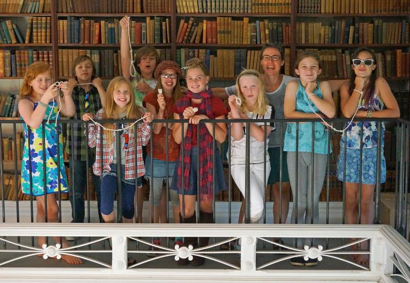 These Dorothy's List readers at Peabody Library, in Post Mills, got a chance to show off their knot tying skills while discussing 'Circus Mirandus' by Cassie Beasley.