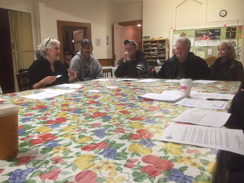Volunteers meet at Brattleboro's emergency winter shelter to talk about the upcoming season.