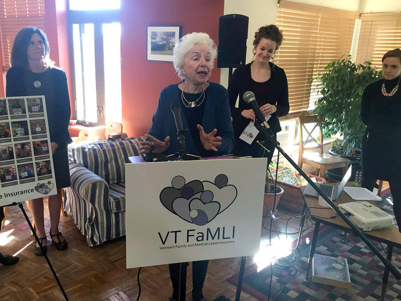 Former Gov. Madeleine Kunin and other advocates want to make Vermont the fifth state to institute a mandatory paid family leave program.