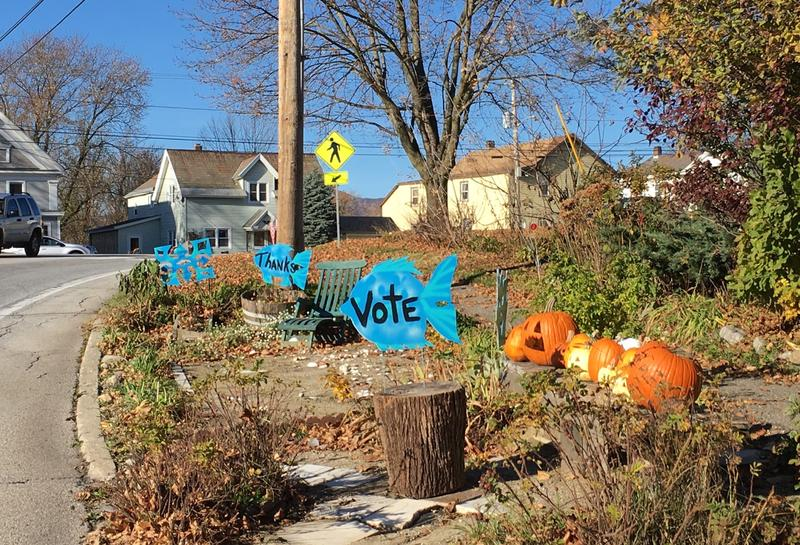 Get-out-the-vote fish in Pittsford.