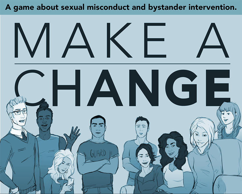 """""""Make A Change,"""" a game from Champlain College's Emergent Media Center, addresses sexual harassment and sexual assault on campus. 'Vermont Edition' spoke about the game with Amanda Crispel, assistant dean for game development at Champlain College."""