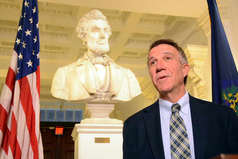Gov. Phil Scott, shown in the Vermont Statehouse in November of 2016, has been outspoken in his resistance to some of President Trump's executive orders on immigration. But he made clear on Thursday that that doesn't mean he's soft on immigration policy.