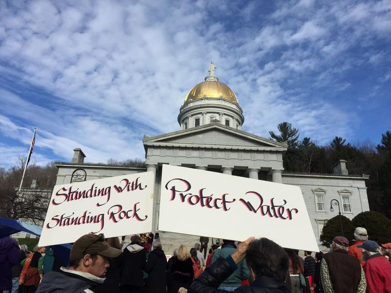Montpelier's demonstration was one of several in the area to protest the Dakota Access Pipeline.