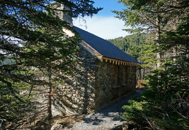 Construction is complete on the rebuilt Stone Hut on top of Mt. Mansfield. The original 80-year-old hut burned down last Christmas Eve.