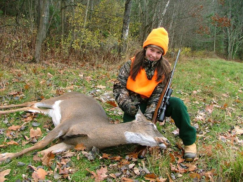 Jessica Scott of South Barre with a deer she took during youth deer hunting weekend in 2010. This year's Vermont youth deer weekend is Nov. 5 and 6.