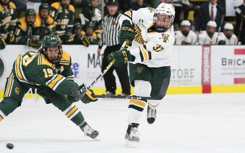 The University of Vermont's men's hockey team has been having a strong season. The team is ranked 12th overall the latest national college hockey poll.
