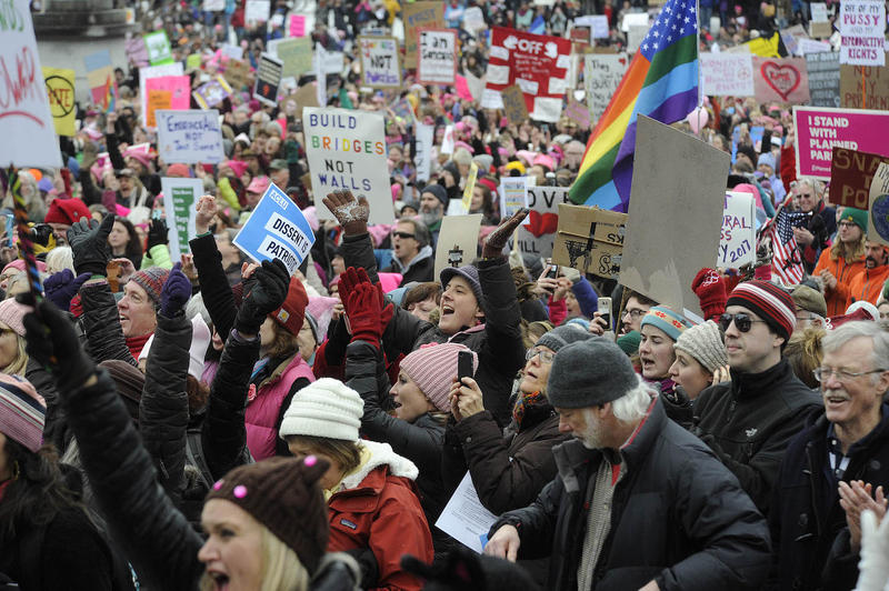 "Thousands gathered in Montpelier Saturday for the Women's March on Montpelier, a ""sister march"" to the main gathering in Washington, D.C."