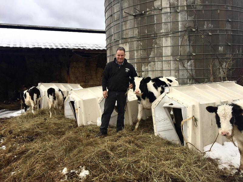 David Fuller has been farming in Weathersfield since 1977. But he says there's not enough money in dairy farming anymore; his herd will be the last one to go in a town formerly full of small farms.
