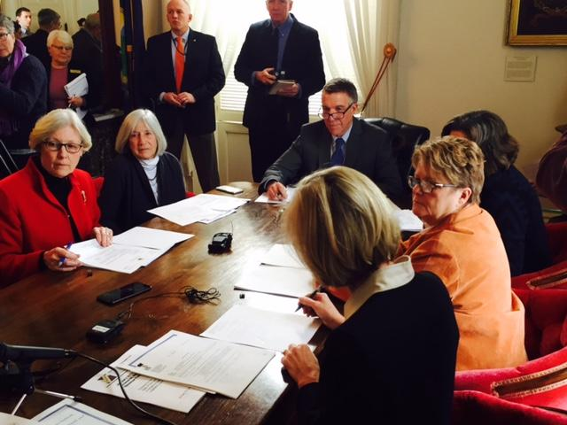 The Vermont Emergency Board met at the Statehouse on Thursday to review Vermont's economic forecast.