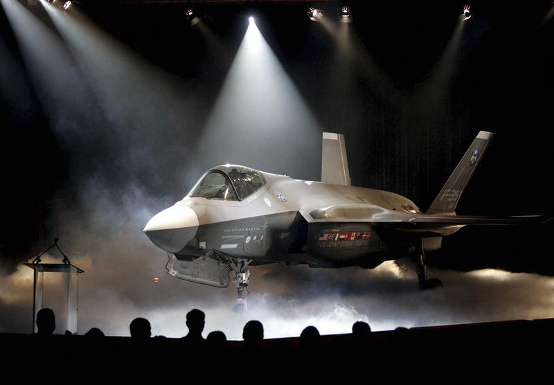 Lockheed Martin's F-35 Joint Strike Fighter is pictured in this July 7, 2006 file photo after being unveiled at a Fort Worth, Texas ceremony. F-35s are expected in Vermont in 2019, but the overall program has experienced delays and cost overruns.