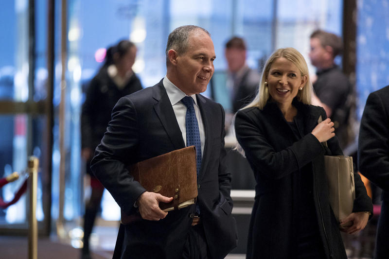 Oklahoma Attorney General Scott Pruitt, President-elect Donald Trump's pick to lead the EPA, in New York on Dec. 7.