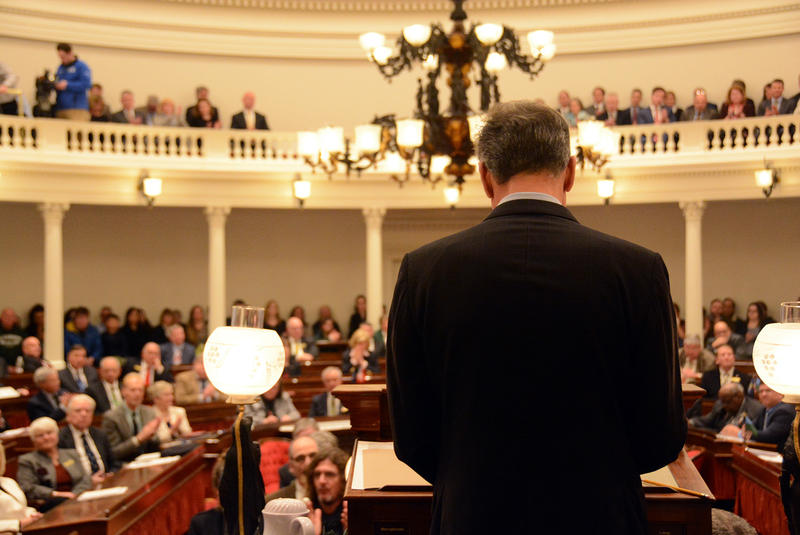 After six years in office, Gov. Peter Shumlin delivered his farewell address in the House chamber.