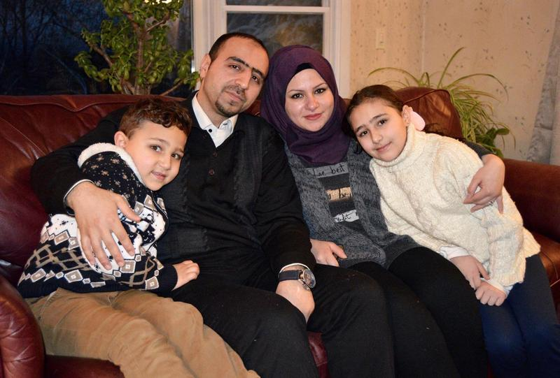 Hussam and Hazar and their children Mohammed and Layan were one of the first two Syrian families to be resettled in Rutland. They may be the last to join the community, if President Trump halts or scales back U.S. refugee policy.