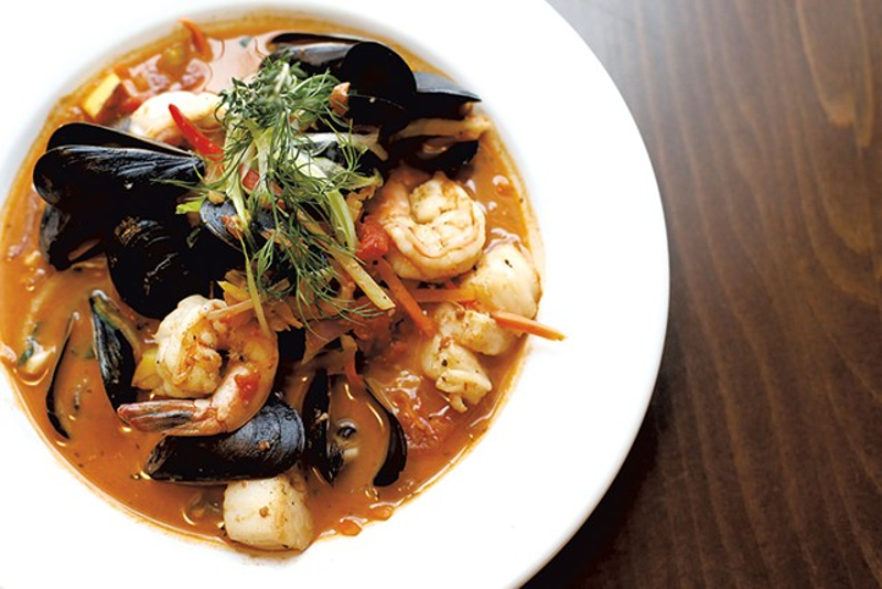 Bouillabaisse gets a makeover by Vermont chef, Dana Hansen.
