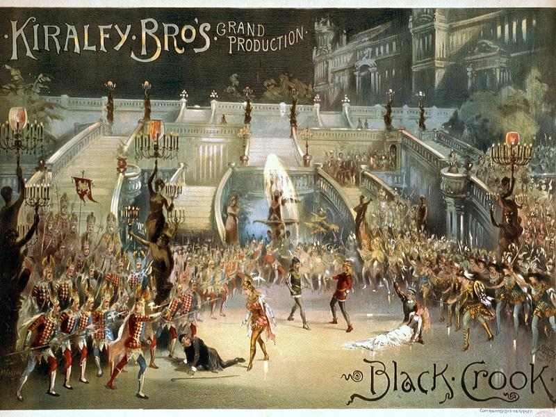 "This was an advertisement poster for the 1866 production of ""The Black Crook"", which many consider to be the first modern musical."