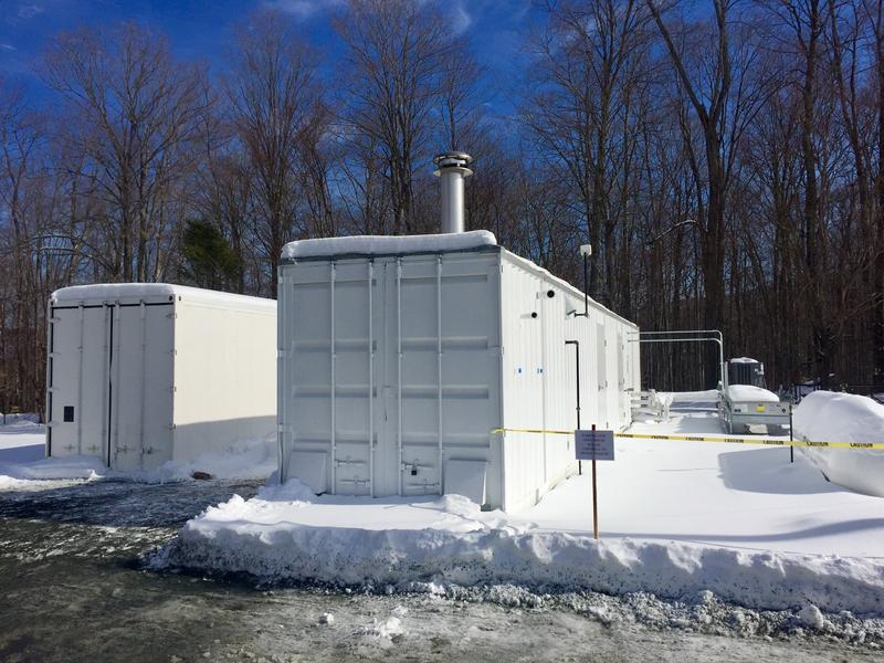 The pump and treat system at Dartmouth's Rennie Farm property is two structures that will suck contaminated ground water from the Hanover neighborhood and filter out the chemical 1,4-dioxane.