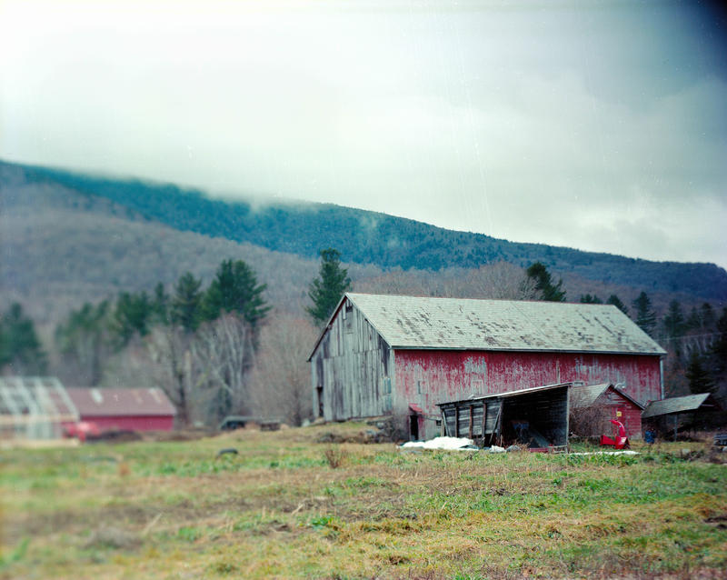 Ryan Yoder's barn. Yoder talked about the need for diversification in agriculture as part of the Vermont Folklife Center's 'Growing Food, Growing Farmers' series.
