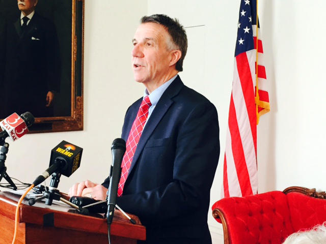 Gov. Phil Scott, at his Statehouse press conference on Wednesday, distanced himself from the Trump Administration on immigration policy.