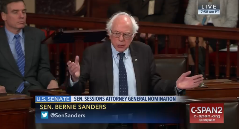 Sen. Bernie Sanders took to the floor of the U.S. Senate Wednesday to defend his colleague, Sen. Elizabeth Warren, whom Republicans voted to silence on Tuesday night when she tried to read from a 1986 letter written by Coretta Scott King.