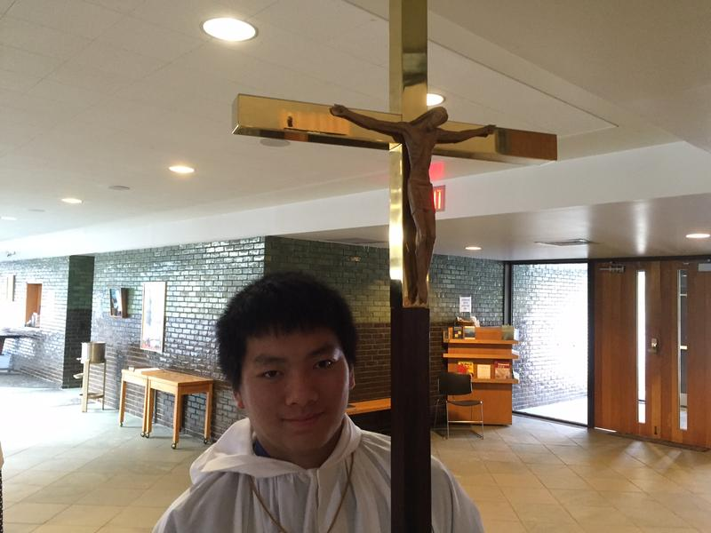 Hien Nguyen was one of the altar boys during the monthly Vietnamese Mass.