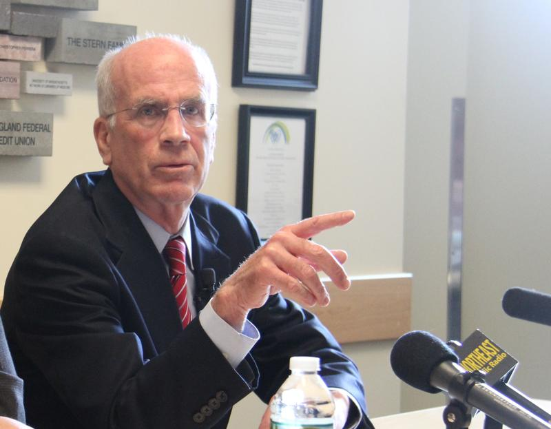 On Monday, Rep. Peter Welch spoke about President Donald Trump's executive orders on immigration at the Community Health Centers of Burlington.