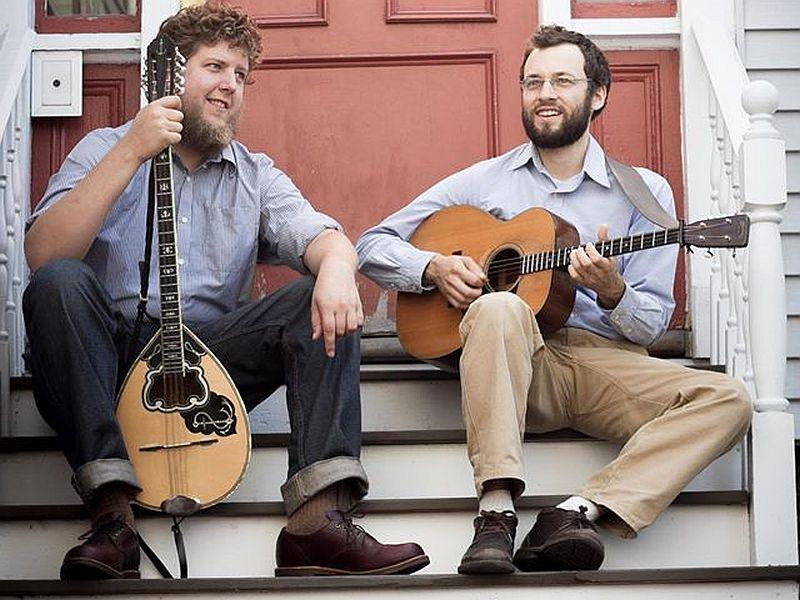 Musicians play mandolin and guitar in a concert featuring Irish, blues and folk tunes this weekend in Westford.