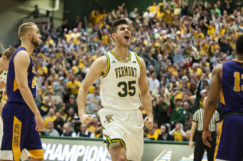uvm is headed to the ncaa tournament thursday and will play against purdue thanks to
