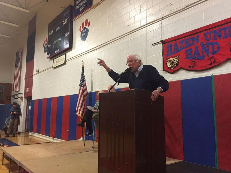 "Sen. Bernie Sanders, speaking at a town hall meeting in Hardwick Saturday, says he thinks the majority of American voters favor ""progressive"" policies, like single payer health care."