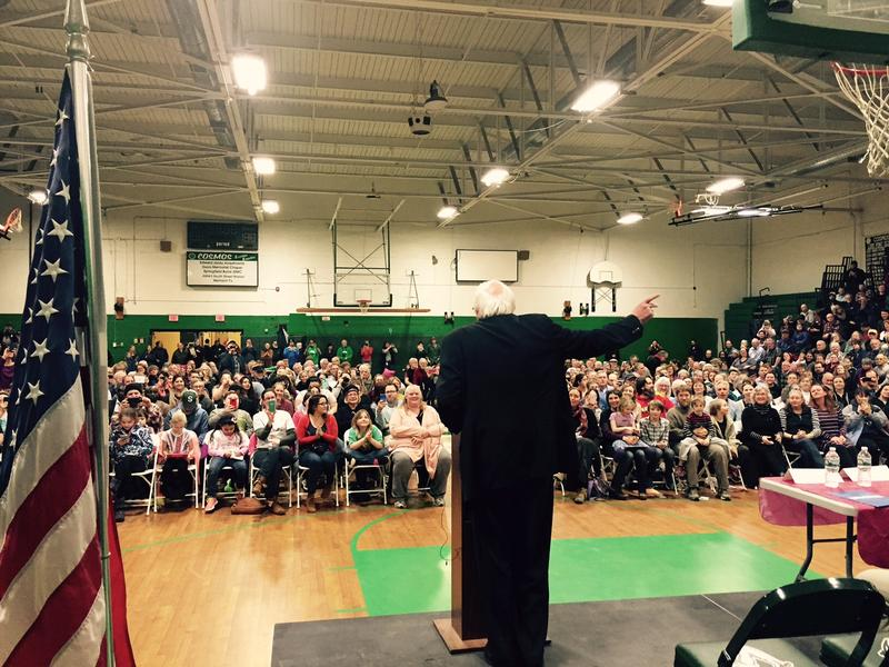 More than 1,200 people showed up to hear Sen. Bernie Sanders speak at Riverside Middle School in Springfield.