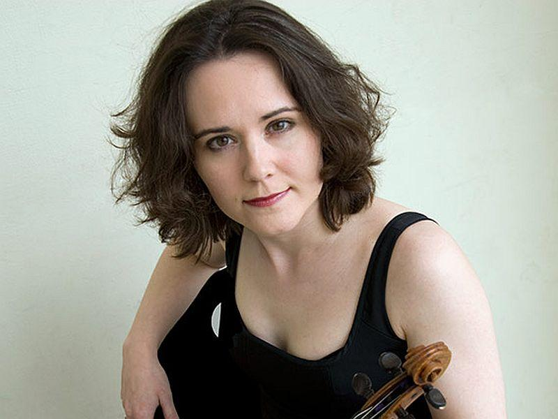 Violinist Judith Ingolfsson plays the Brahms Concerto with the VSO this week.