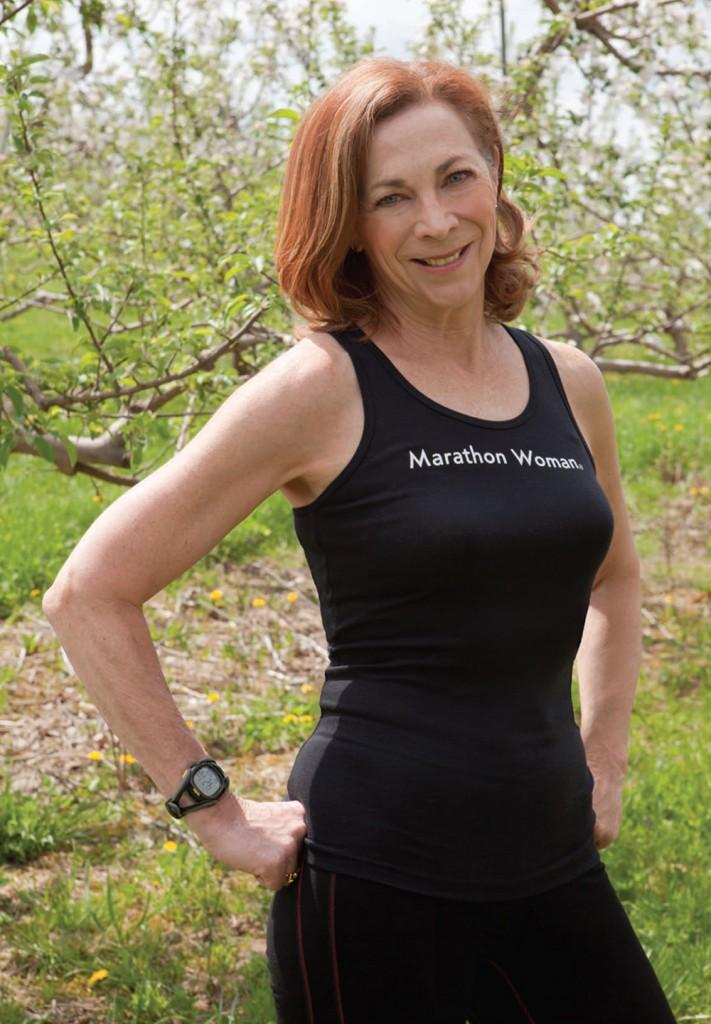 Kathrine Switzer in May 2011, at home in the Hudson Valley of New York State.