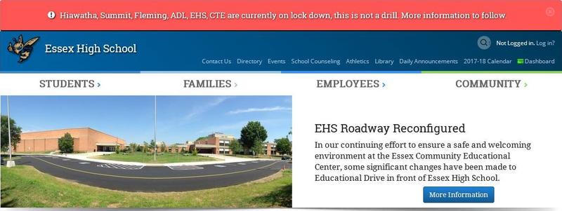 The CCSU website as of 10:30 a.m. Wednesday morning. This story is developing.