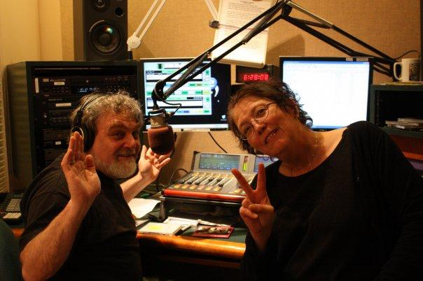 Robert and Nora in the studio