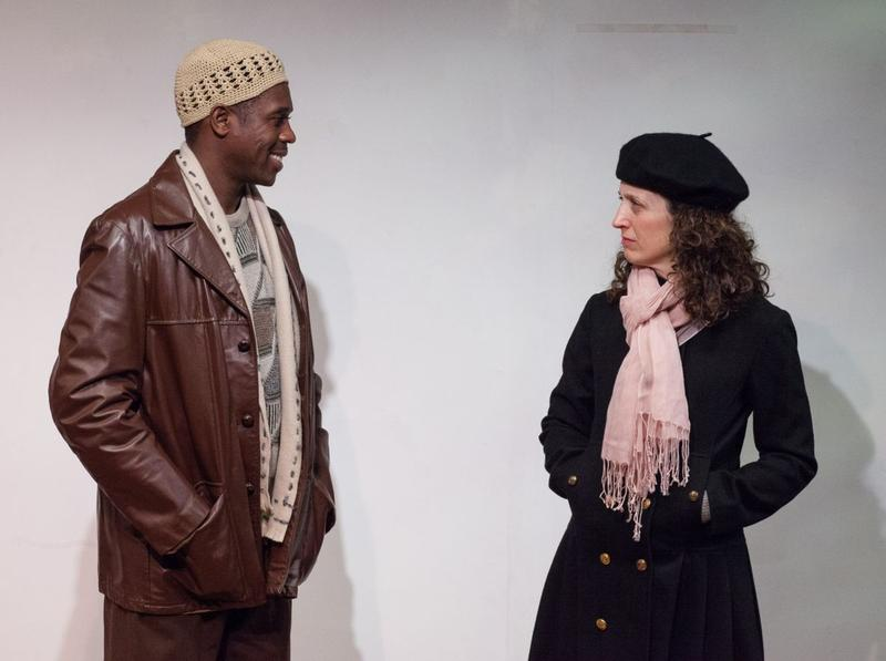 Actors Tinotenda Charles Rutanhira, left, and Marianne DiMascio play the charactars Annie and Alemu in 'The Call.'