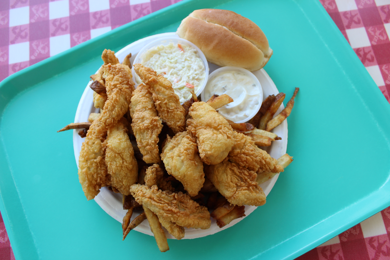 Fried lake perch basket at Ray's Seafood in Essex Junction.