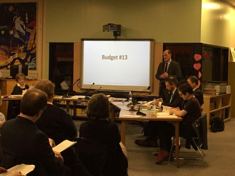 The South Burlington school board presented a school budget draft during an April meeting. We're talking about the debate over the budget and how it's become wrapped up in a controversy over changing the high school's nickname.