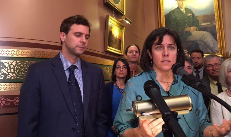 Senate President Pro Tem Tim Ashe and House Speaker Mitzi Johnson speak at a press conference Wednesday at which they declared an impasse with Gov. Phil Scott. We're talking about the stalemate and the rest of the week's news in state politics.