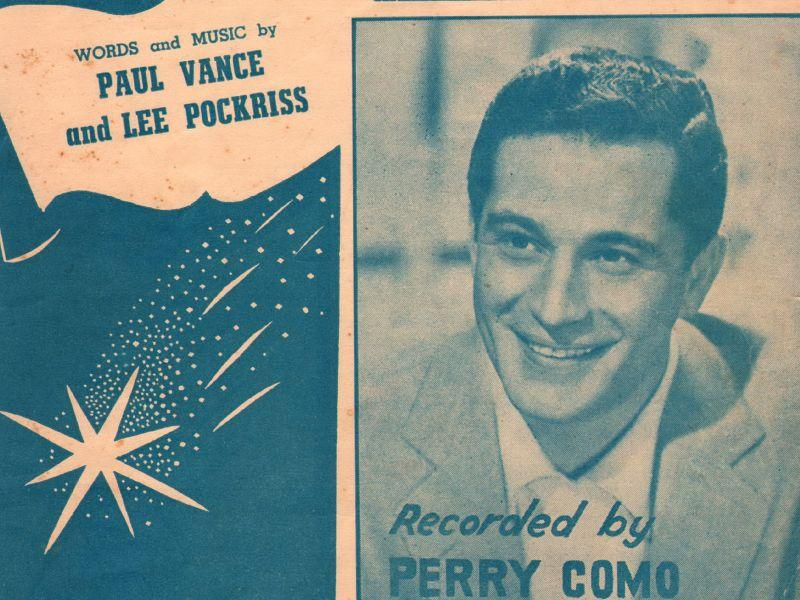 This detail from a Perry Como recording of the Paul Vance-penned hit, 'Catch A Falling Star.'