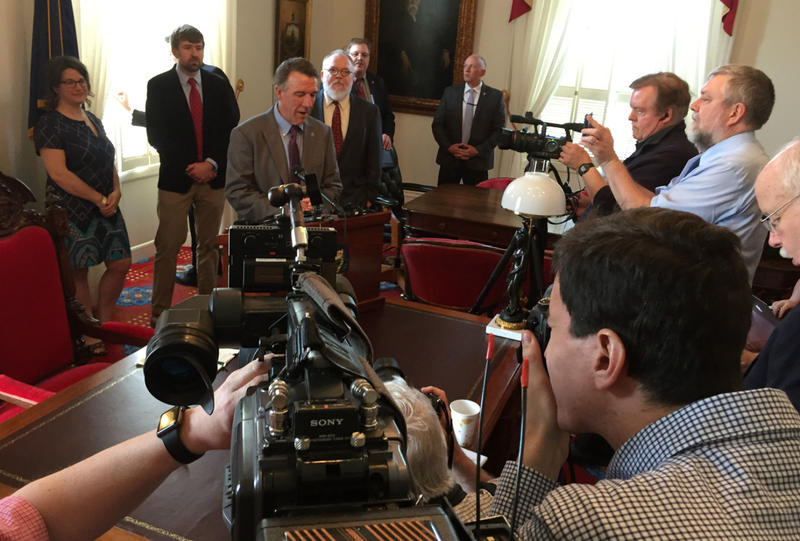 Gov. Phil Scott, before approving new legal protections for journalists, said that an independent press is vital to democracy.