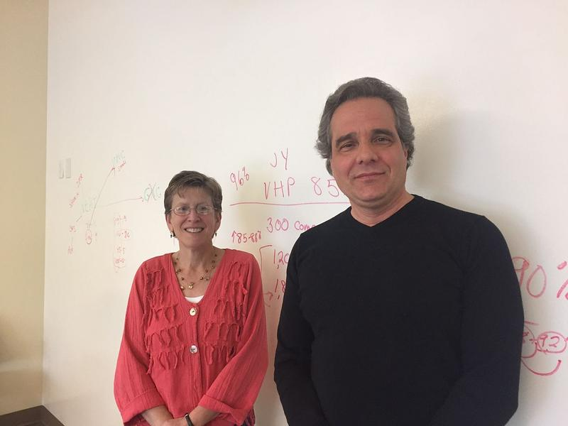 Laura Soares, left, and Mark Hage are trust administrators at the Vermont Education Health Initiative, and have been working on the new teacher health plans since 2015. Those plans the now subject of a political debate in Montpelier.