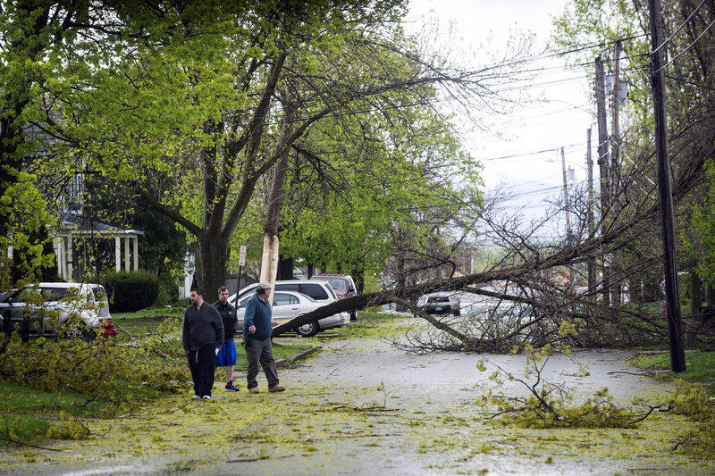 A windstorm toppled down trees in Rutland and knocked out electricity for many residents. Meteorologists say the area is more susceptible to these wind events.
