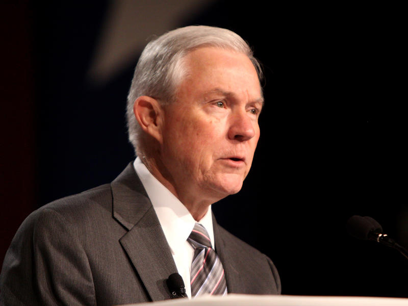 Attorney General Jeff Sessions, seen here in October 2011, is testifying in an open hearing before the Senate Intelligence Committee on Tuesday.
