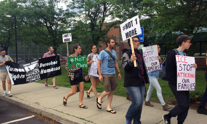 In June, about 25 protesters showed up at the detention facility in South Burlington where Yesenia Hernández is being held for ICE. Migrant Justice is trying to get records related to the arrest of Hernández and several other members of Migrant Justice.