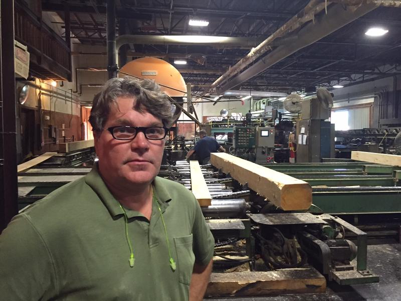 Jeff Hardy is general manager at Cersosimo Lumber in Brattleboro. Hardy says about 25 percent of the company's white piune goes to Canada, and the new tariff on imports could affect business.