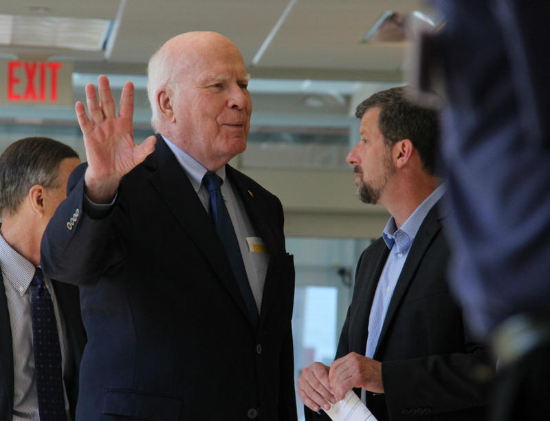 At the Riverside Clinic of Community Health Centers of Burlington, Sen. Patrick Leahy said Senate Republicans' health care plan threatens the kinds of services offered by the health center.