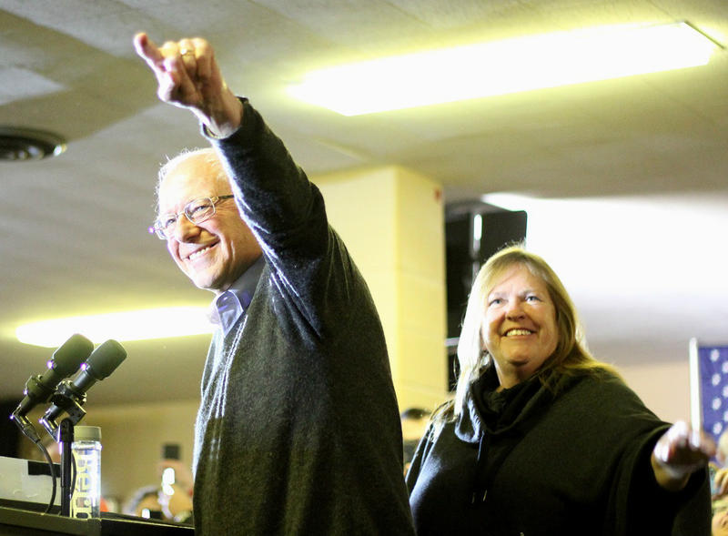 Jane Sanders, right, left Burlington College in 2011. When her husband, Sen. Bernie Sanders, was running for president in 2016, a Republican party official called for an investigation into Jane Sanders' actions as president of the college.